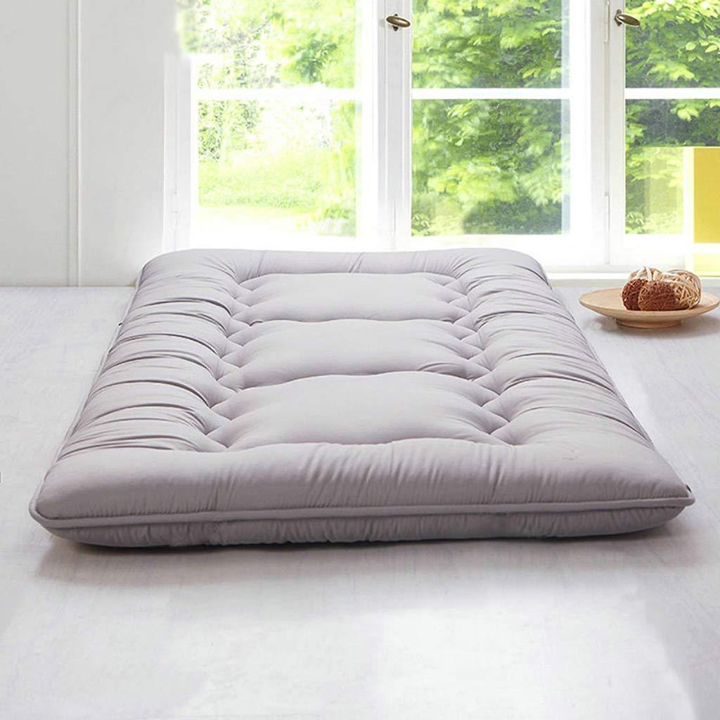 快適な折りたたみ式マットレス学生寮のマットレス 畳フロアマットダブル布団マットレスポータブルスリーピングパッド A+ (色 : ベージュ, サイズ さいず : 1.35X2M Bed) B07QLJSQV1 Gray 1.5X2M Bed 1.5X2M Bed Gray