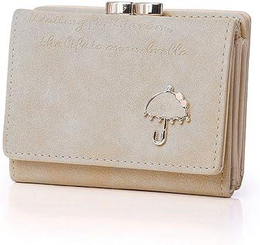 Women PU Leather Small Wallet Card Holders Zipper Coin Purse Ladies Handbag Bag