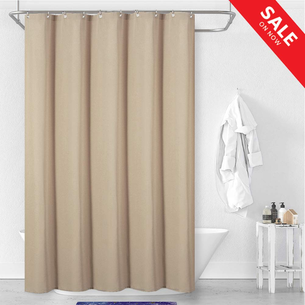 Central Park Fabric Shower Curtain Liner Water Repellent Mildew Resistant Machine Washable Anti Bacterial Bathroom Curtains For Bathtubs