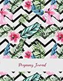 """Pregnancy Journal: Beauty Pink Floral, Pregnancy Record Book Large Print 8.5"""" x 11"""""""