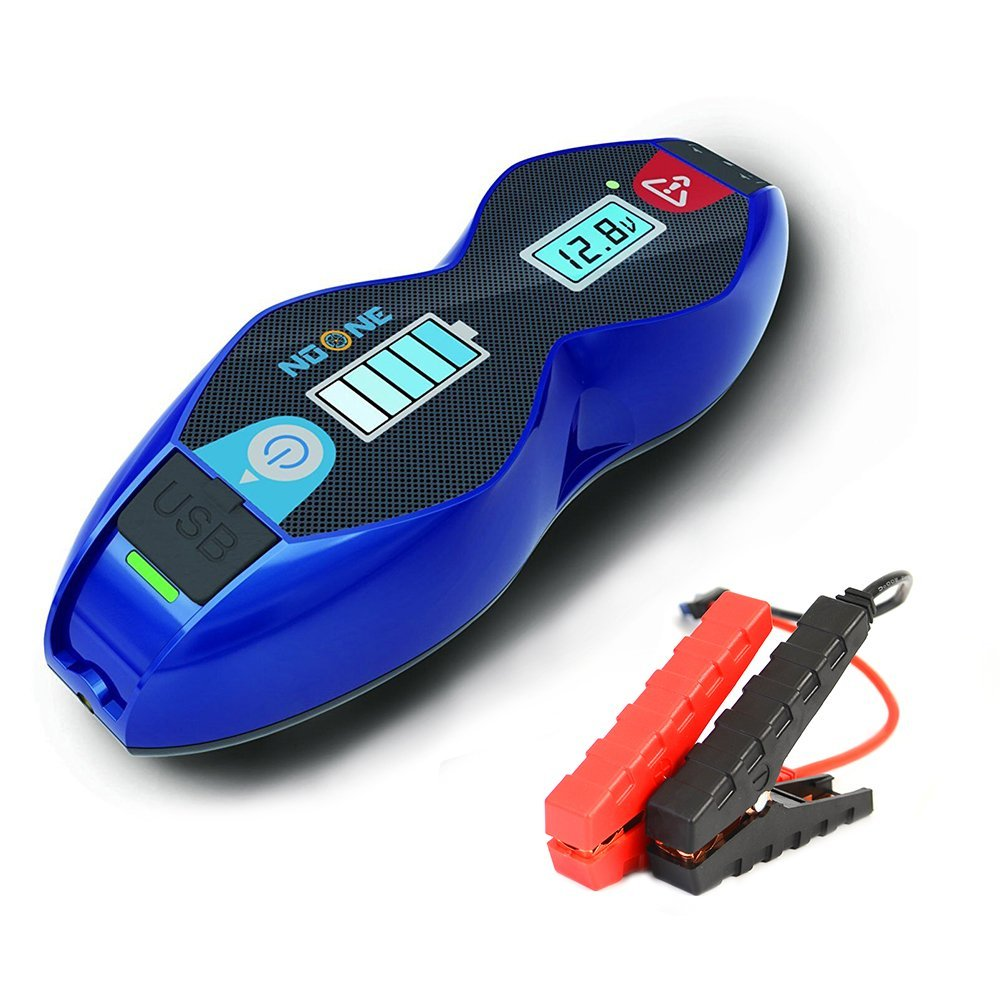 NoOne 800A 12600mAh Car Jump Starter Portable Lithium Ion (up to 6.5L Gas/ 5.2L Diesel Engine) for Car Truck Motorcycle with Testing Battery Valve, Smart Charging Port& LCD Screen (Blue)