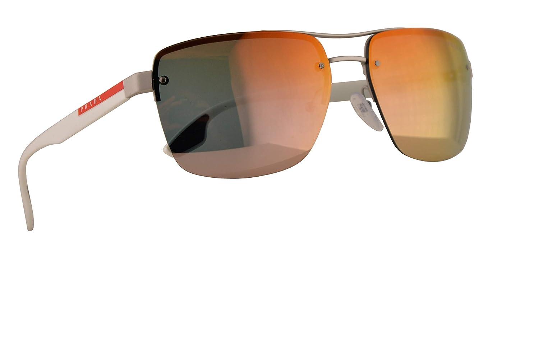 Prada SPS 60US Gafas de Sol Plateados con Lentes Oro Rosa ...