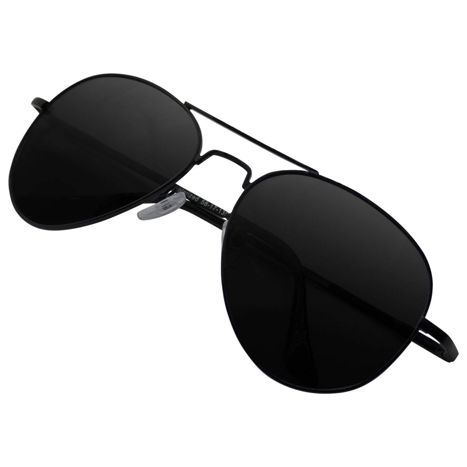 Lunette Aviator Sunglasses Black Edition for Women and Men with Polarized Lens and UV400 Protection