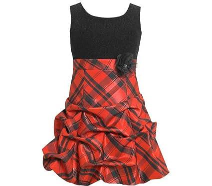 girls christmas dress sleeveless red plaid dress 7 - Christmas Plaid Dress