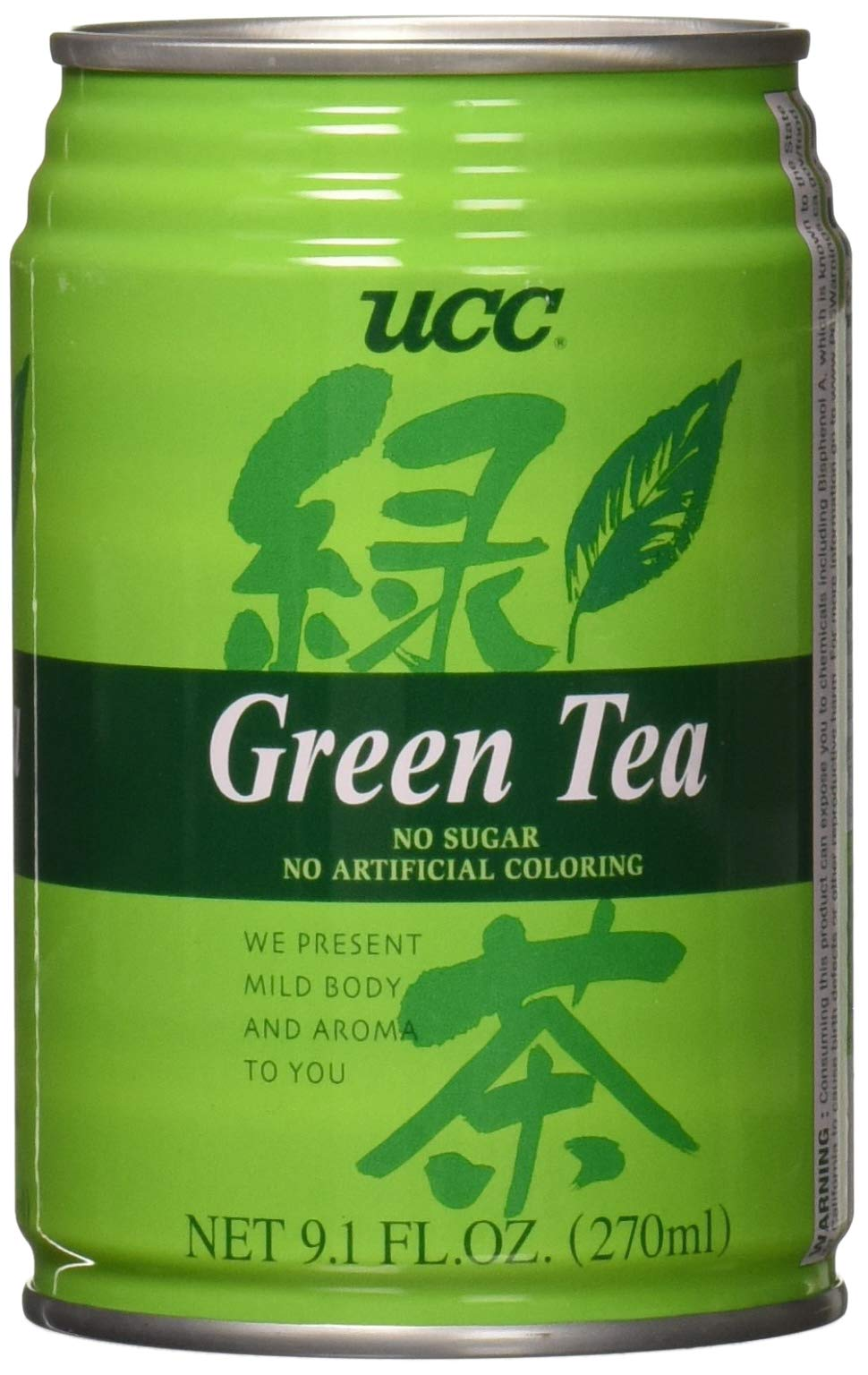 UCC UCC Green Tea, Green Tea, 9.10 fl. oz. (Pack of 24)