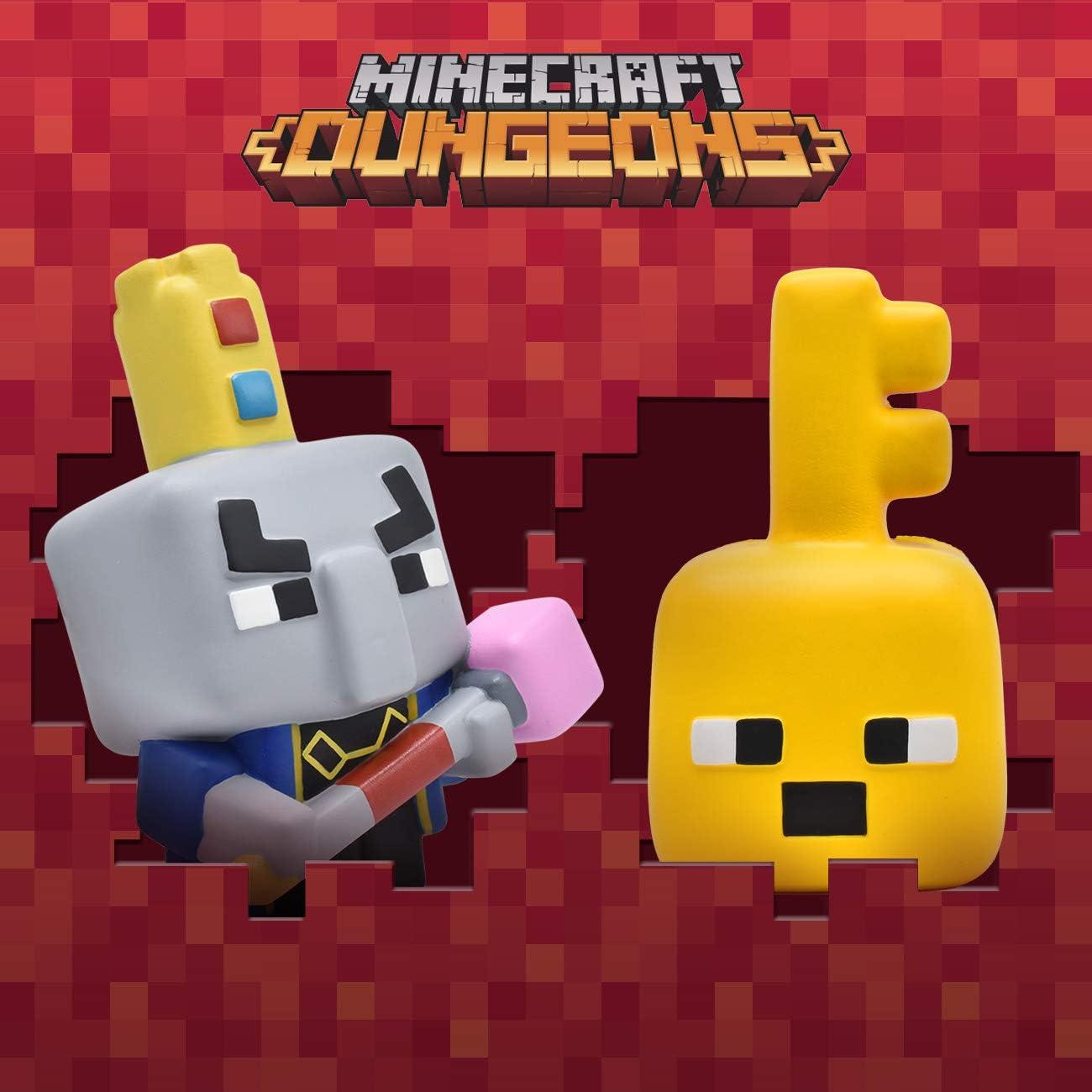 Just Toys LLC Minecraft Dungeons Key Golem Mega SquishMe