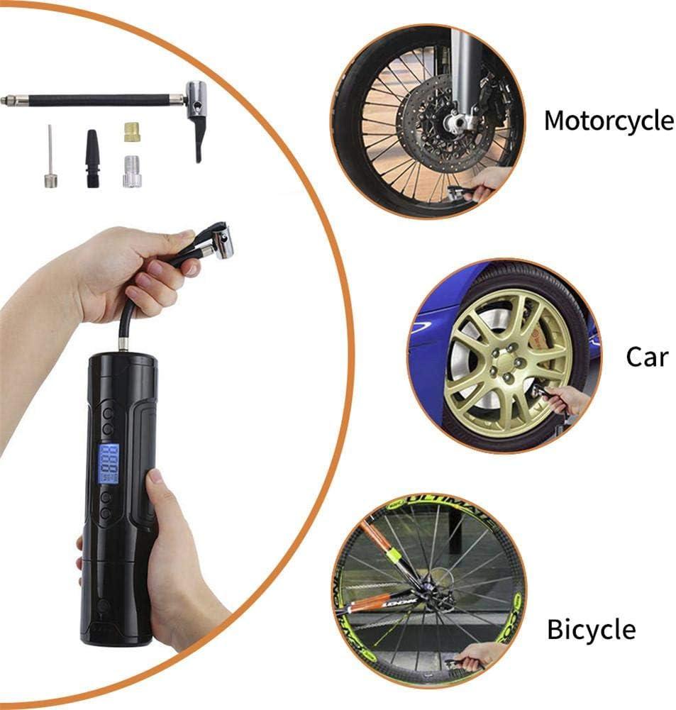 Eruditter Compresseur dair Portable Mini Gonfleur Pompe /À Air /Électrique pour V/éhicule Intelligent sans Fil 1000mAh 150PSI 12V Pompe /Électrique pour Balle//V/élo//Pneu De Voiture