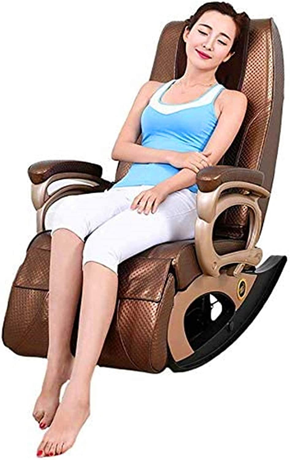Vacoomcom Massage Chair, Home Multi-Function Sofa Chair Cervical Vertebra Health Massager, Suitable for Legs, Neck, Head, Back Rocking Heating Function