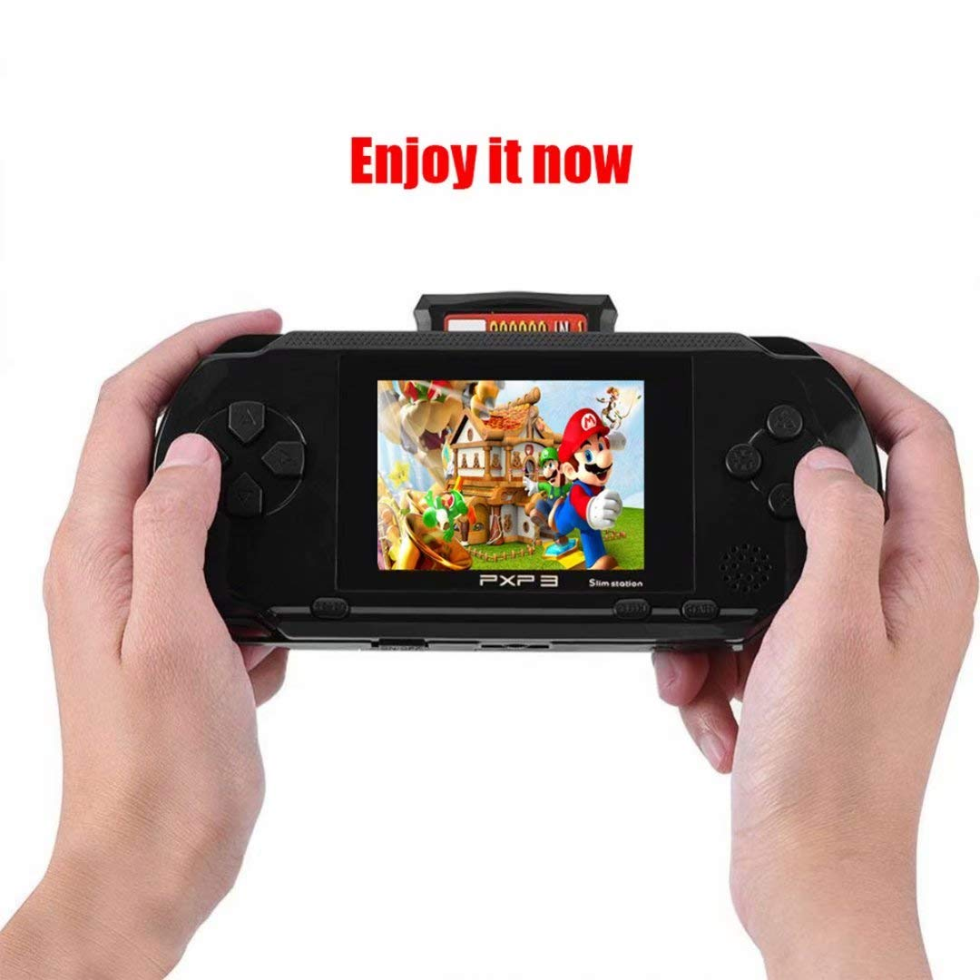 qiaoniuniu Handheld Game Console Kids Gift 16 Bit Portable Classic Video Games 150 Games Retro MD Paly Games PXP3 (Color: Black) by qiaoniuniu (Image #7)
