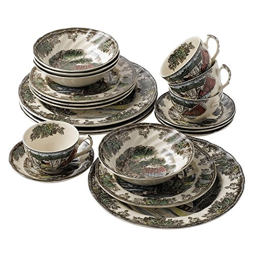 Johnson Brothers Friendly Village 20-Piece Set, Service for 4 (Pond Collection Lily)