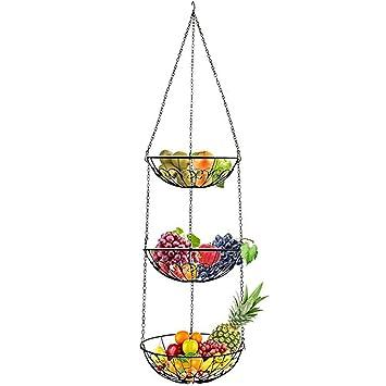 surenhap 3 niveles para colgar cestas de fruta o verdura cocina ...