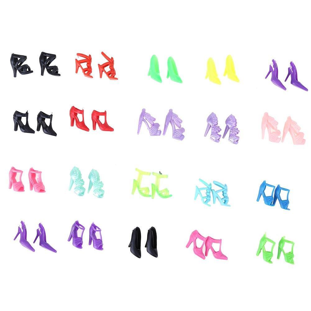 Domybest 12 Pairs Fashion Puppe High Heel Schuhe Sandalen f/ür Barbie Puppe Zubeh/ör