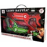 Light Battle Active pistolet lazer game. 1 pistolet infrarouge orange + 1 infrarouge pistolet jouet verts - LBAP10212D