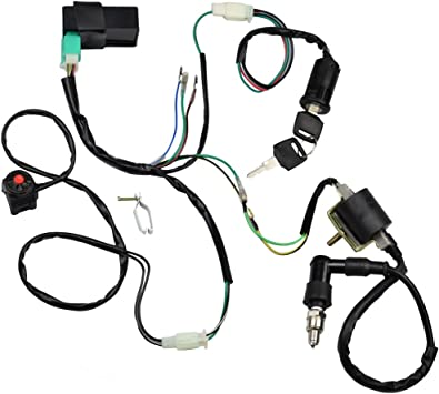 go kart gy6 wiring harness amazon com minireen wire harness wiring loom cdi ignition coil  minireen wire harness wiring loom cdi