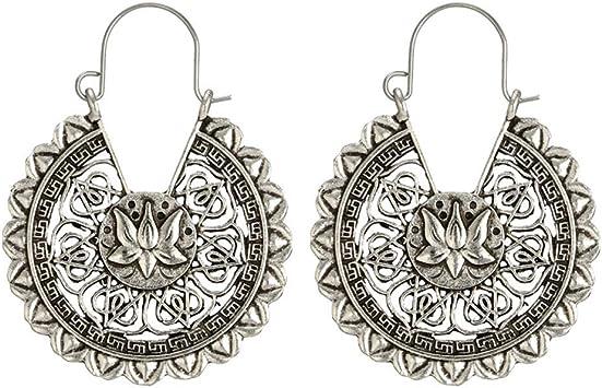 FiedFikt - Pendientes de plata envejecida para mujer, diseño de ...