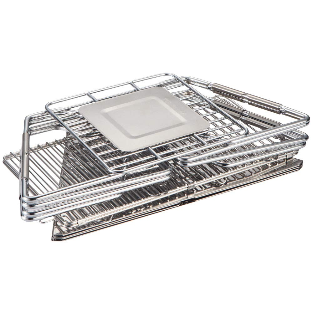 Quick Grill Medium: Original Folding Charcoal BBQ Grill Made from Stainless Steel by Fox Outfitters