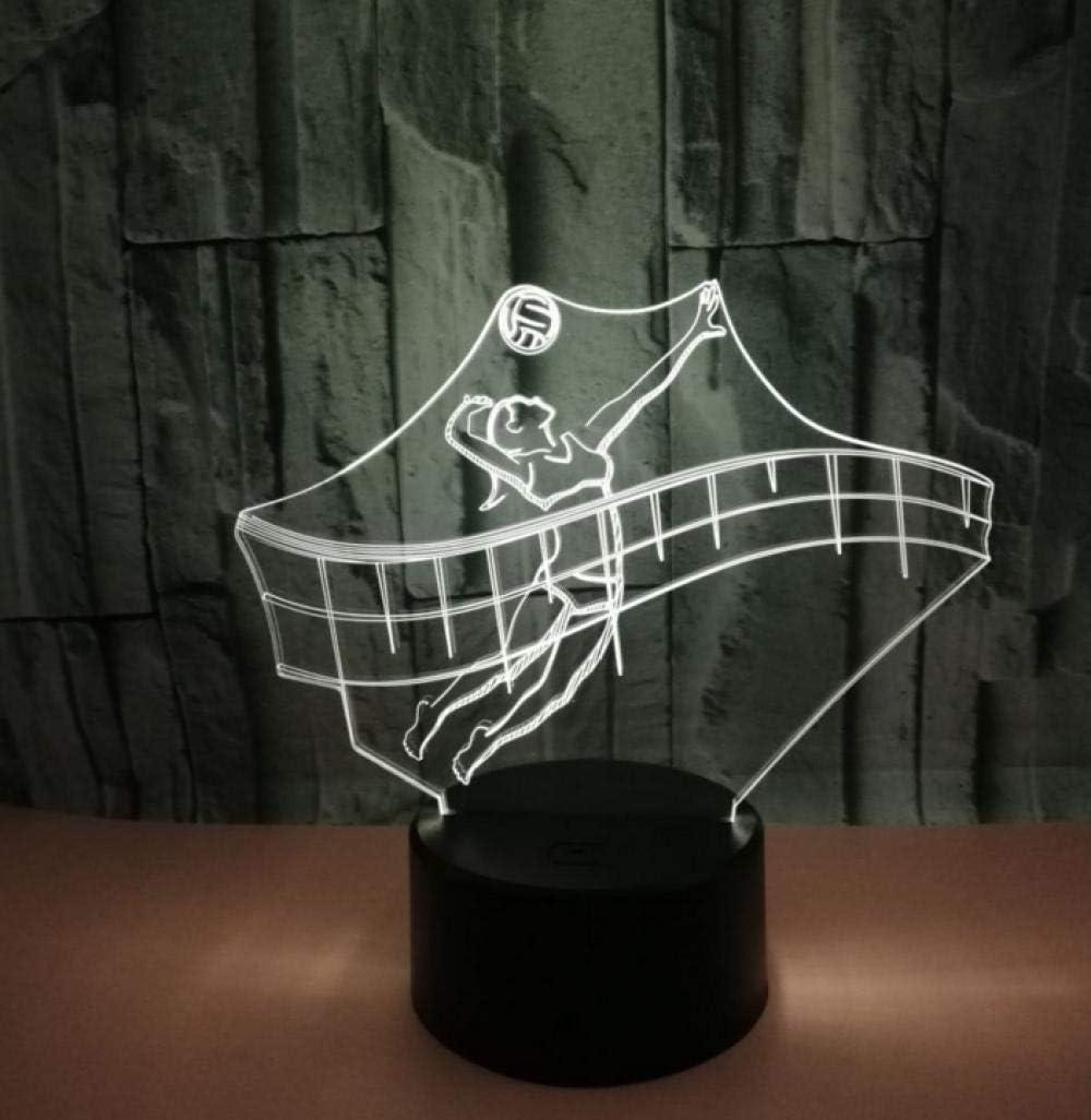 Control remoto 3D luz nocturna tenis colorido LED luz de control remoto acrílico luz estéreo visual táctil base negra luz nocturna con control remoto Lámpara de mesa USB