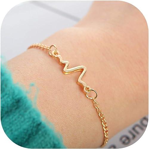 Fashion Womens Jewelry Silver//Golden Bracelet Hand Chain Infinity Pulseras Gift