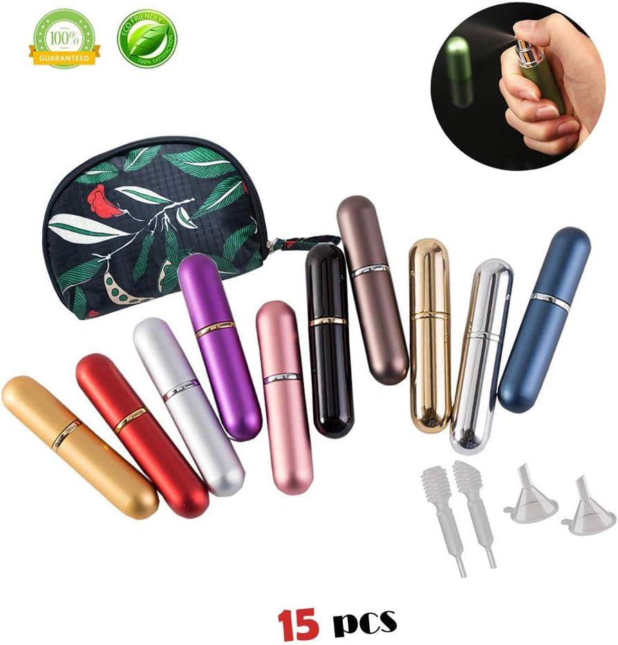 Atomizador de Perfume, Morbuy Mini Portátil Vacía Pulverizador Frascos Dosificador Recargable de Perfume de Afeitado con Bomba de Embudo y Pipeta para Viaje en Bolso: Amazon.es: Belleza