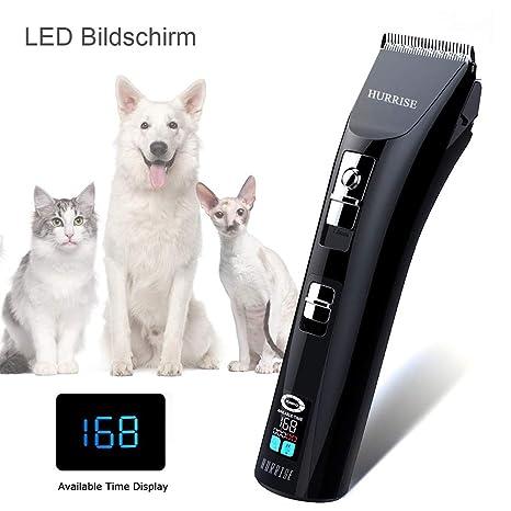 Cortapelos Perros Profesional, Máquina de Cortar Pelo Inalambrica con 6 accesorios LCD inalámbrica Silencioso mascotas
