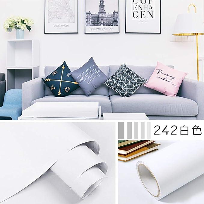 Color sólido papel tapiz grueso dormitorio adhesivo ...