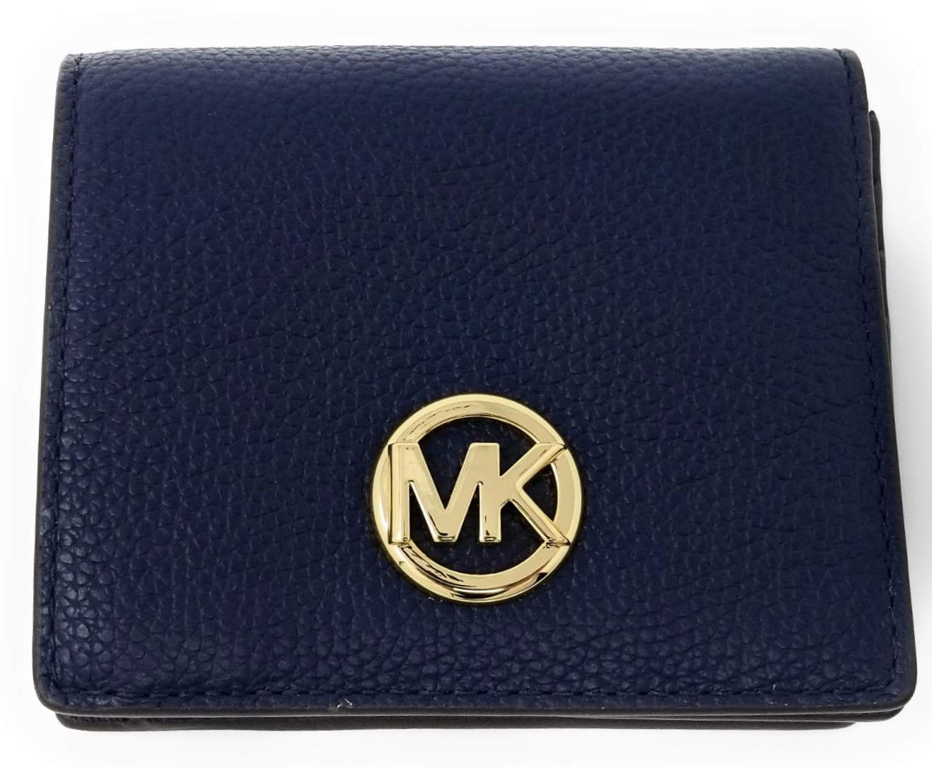 Michael Kors Fulton Carryall Card Case Small Wallet (Navy)