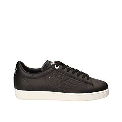 aec1bcf41f7 Emporio Armani EA7 by 248028 Classic Leather Black Trainer 6  Amazon.co.uk   Shoes   Bags