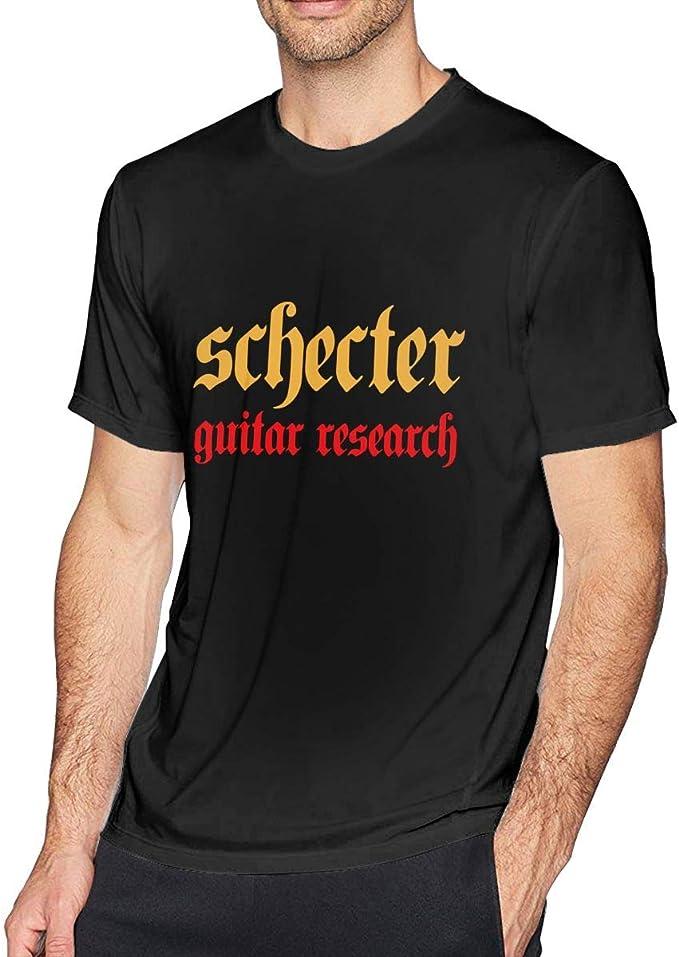 Schecter Guitar Custom Black T-shirt USA Size Men/'s