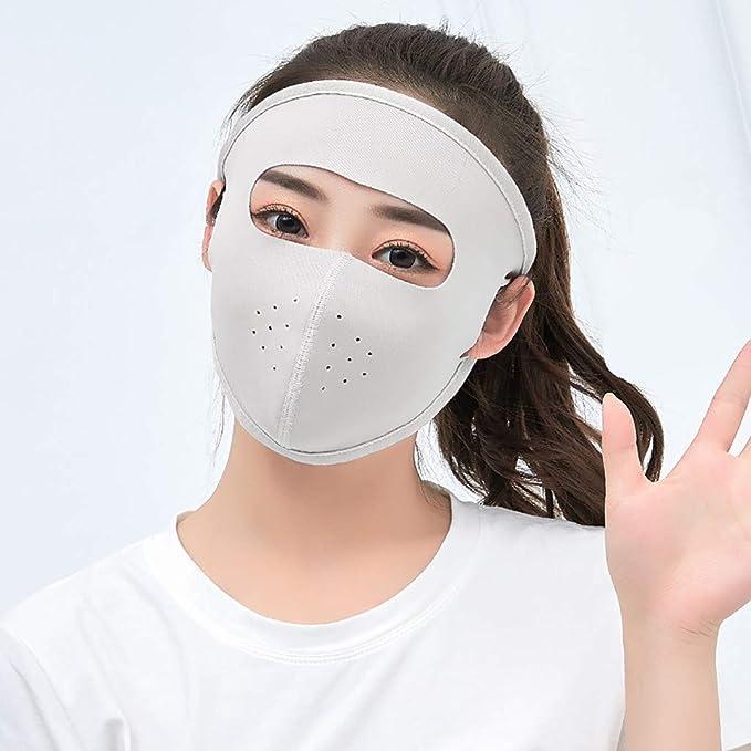 6 máscaras protectoras de cara completa de seda de hielo, transpirables, absorbentes, para deportes de verano, protección UV, para ciclismo, correr, actividades al aire libre: Amazon.es: Bricolaje y herramientas