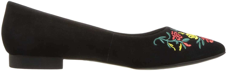 Bella Vita Women's Vesper Ballet Flat B07691C2S4 9.5 B(M) US Black Kid Suede