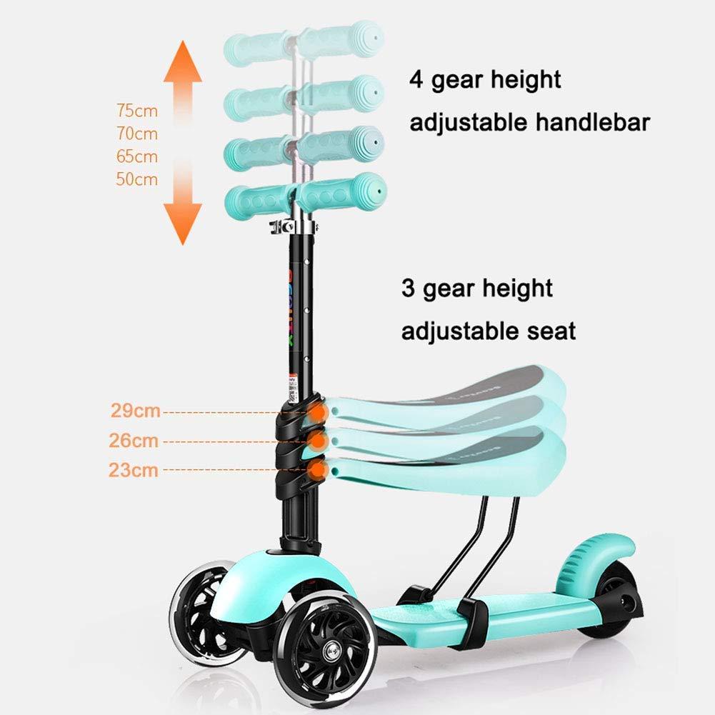 Sport Scooter Mini Scooters Patada de Música Ajustable con Asiento ...