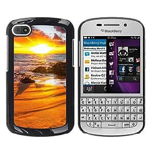 LECELL -- Funda protectora / Cubierta / Piel For BlackBerry Q10 -- Sunset Beautiful Nature 31 --
