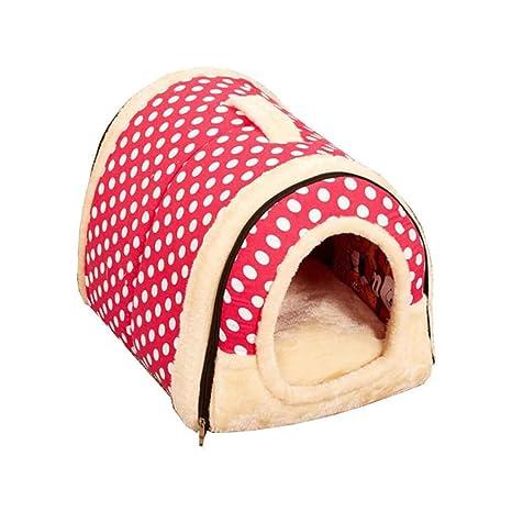 Kakiyi Casa de Perro de la Perrera Jerarquía con Cama del Gato del Perro casero Mat