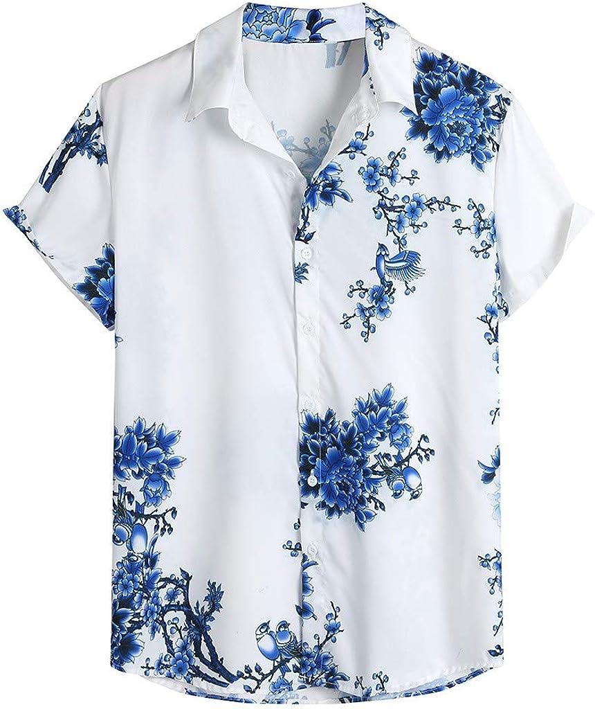 MOTOCO Camiseta de Manga Corta con Estampado de Manga Corta para Hombre(L, Azul): Amazon.es: Ropa y accesorios