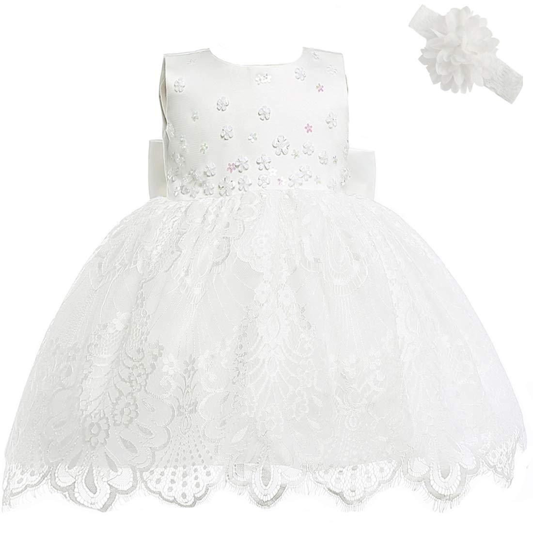 AHAHA Abiti da Sposa Principessa Neonata Battesimo Vestitino