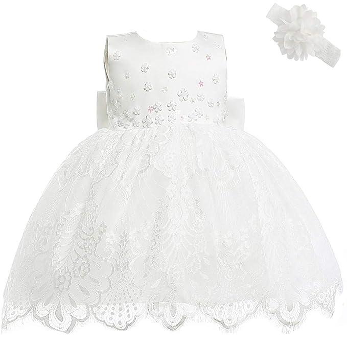 AHAHA Vestidos de Boda de la Princesa del Bebé Bautizo Vestido de Fiesta de Cumpleaños del