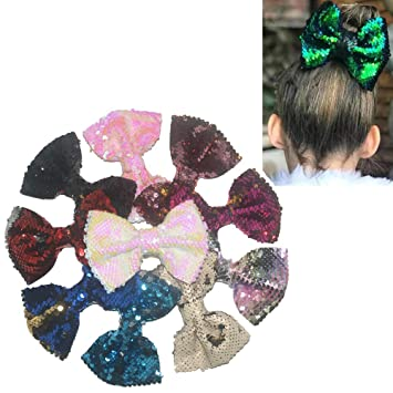 30pcs Solid Ribbon FOE Band Elastic Glitter Kids Headbands