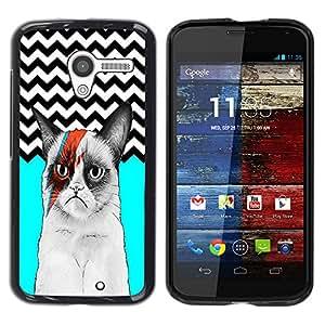 - Chevron Grumpy Cat - - Fashion Dream Catcher Design Hard Plastic Protective Case Cover FOR Motorola Moto X 1 1st GEN I Retro Candy