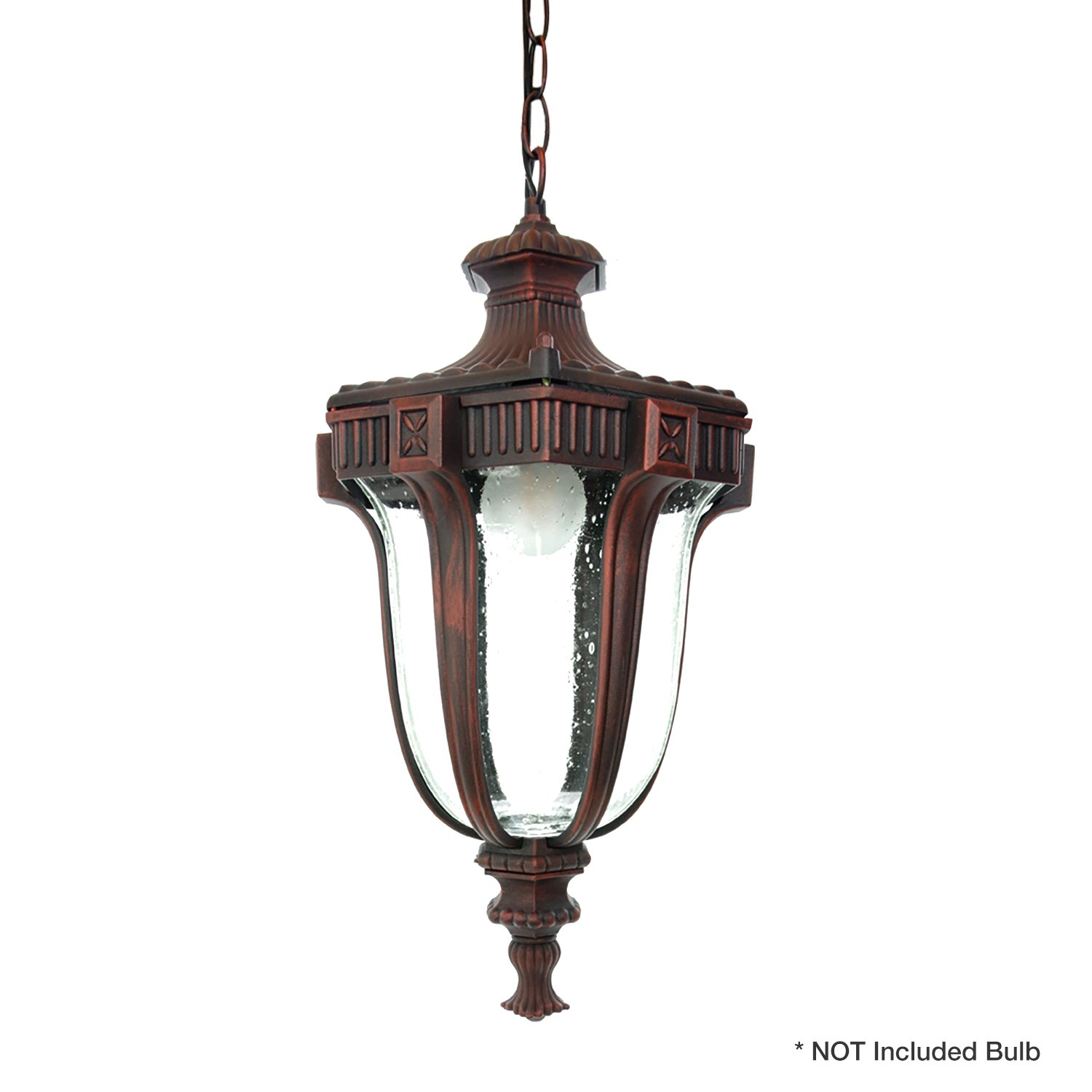 eTopLighting Le Eclairage Collection Terra-cotta Finish Exterior Outdoor Lantern Light Frost Glass, Pendant APL1098 by eTopLighting