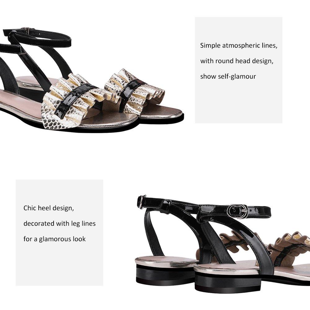 9e1274717b65c2 Qimaoo Femme Été Sandales à Talon Carré, Chaussures à Haut Talon de 6cm pour  Mariage Soirée Fête: Amazon.fr: Chaussures et Sacs