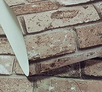 YUELA Nostalgie En Briques De Style Chinois Du0027émulation De Papier Peint  Motif Brique Brique
