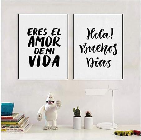 Peinture Sur Toile Espagnole Décor à La Maison Eres El Amor