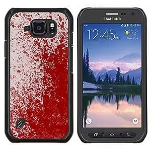 Caucho caso de Shell duro de la cubierta de accesorios de protección BY RAYDREAMMM - Samsung Galaxy S6Active Active G890A - Paint Blood Splash Arte Moderno Rojo aleatoria
