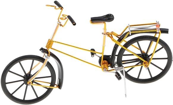 Toygogo Regalo De Recuerdos De Artesanía De Hierro Creativo Modelo De Bicicleta Mini Modelo De Bicicleta - Oro Negro: Amazon.es: Juguetes y juegos