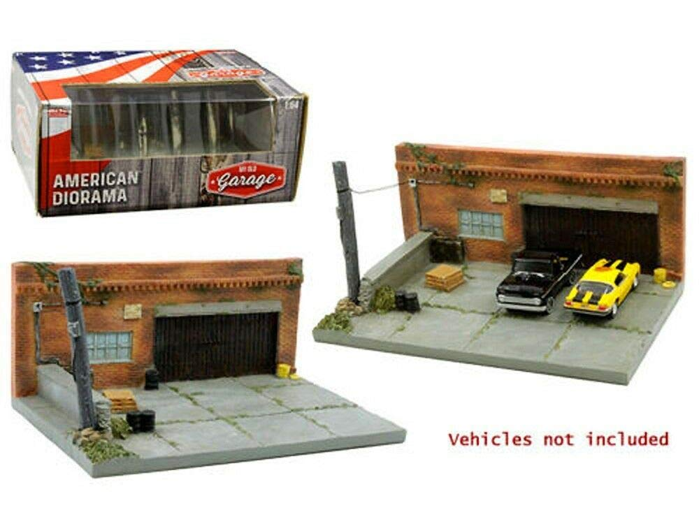 My Old Garage Resin Diorama for 1/64 Scale Models by American Diorama 38430