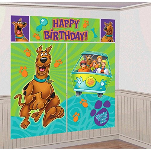 Scooby Doo Where Are You Scene Setter Plastic Poster Decoration Kit]()