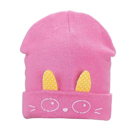 91045b95e29 Amazon.com  Cute Rabbit Ears Toddler Baby Knitted Hat Infant Newborn Soft  Warm Beanie Cap  Clothing