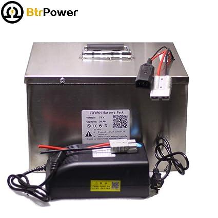 BtrPower LiFePO4 - Batería de Litio Recargable (72 V, 35 Ah ...