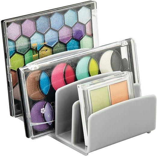 mDesign Organizador de maquillaje – Caja organizadora con cinco ...