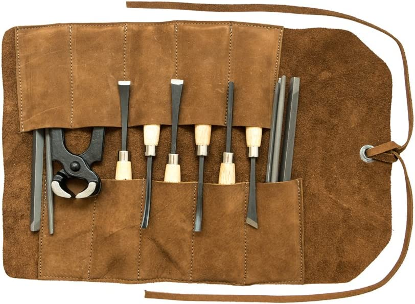 Hide Drink, Soft Leather Small Tool Roll, Handmade Includes 101 Year Warranty Swayze Suede